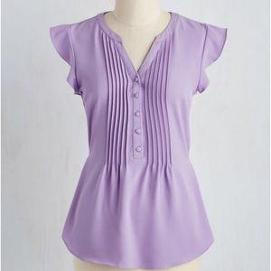 ModCloth tie-back blouse lavender